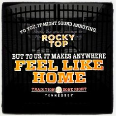 Rocky top will really be home sweet home next week. Rocky top, TN