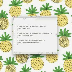 Reposting @sidekickdigital: #throwbackthursday to when we embraced the #PPAP meme with code - it's what we do best! ✒🍍🍎