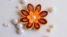 Quilled Yellow Flower/ 3D Quilled Flower - YouTube