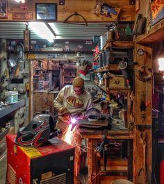 in 2019 garage workshop, garage shop, garage organization. Garage Art, Man Cave Garage, Garage Shop, Garage Doors, Motorcycle Workshop, Motorcycle Shop, Garage Plans, Shed Plans, Garage Ideas