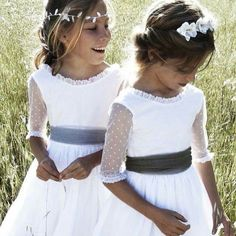 Waiting for the bride. Don't forget to thank your little helpers on the day with a gift from the Molly Brown London Bridesmaid Jewellery Collections Little Girl Dresses, Flower Girl Dresses, Flower Girls, Baptism Dress, Communion Dresses, Wedding With Kids, Kind Mode, Diy Clothes, Mother Of The Bride