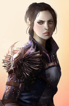 Inquisitor Trevelyan in Warden Armor by - Dragon Age Inquisition Dragon Age Origins, Dragon Age Inquisition, Dragon Age Games, Dragon Age 2, Character Portraits, Character Art, Fantasy Characters, Female Characters, Vampires