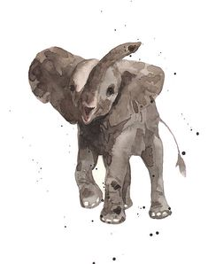 The Greeter Elephant by Alison Fennell - The Greeter Elephant Painting - The Greeter Elephant Fine Art Prints and Posters for Sale