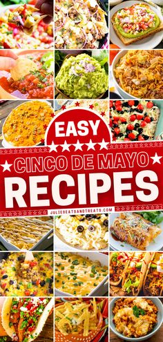 In search of Cinco de Mayo food and drink? Look no further than these quick and easy Tex-Mex recipes anyone can make! Complete your dinner or party menu with this roundup of appetizers, side dishes, desserts, cocktails, and more. There is something here for everyone! Easy Holiday Recipes, Fun Easy Recipes, Summer Recipes, Healthy Dinner Recipes, Appetizer Recipes, Easy Meals, Appetizers, Mexican Cooking, Mexican Food Recipes