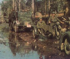 Im Sumpf - Russland 1941-color photo-ww2shots
