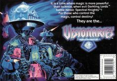 """Back of the box for a toy from Hasbro's """"Visionaries"""" line of toys"""