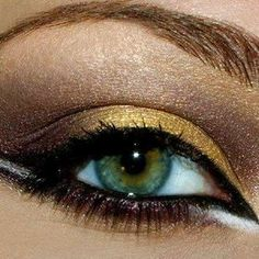 my obession with gold makeup...so pretty!