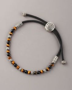 Tiger's Eye Bead Bracelet by John Hardy at Neiman Marcus.