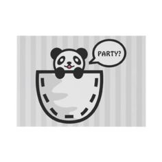 Panda themed invitations and announcements.