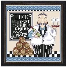 Cheap Wine Counted Cross Stitch Kit - Cross Stitch, Needlepoint, Embroidery Kits – Tools and Supplies