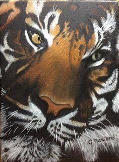 Tiger Oil on canvas 2017 24x18 cm