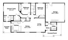 Home Plans HOMEPW76134 - 1,473 Square Feet, 3 Bedroom 2 Bathroom Craftsman Home with 2 Garage Bays