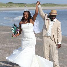 CONGRATULATIONS Terrell and Dionna!!!#stephenpalmerweddings #tybeeisland #beachwedding