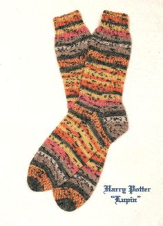 """Harry Potter-themed socks in """"Lupin"""""""