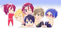 Free! Iwotobi Swim Club ~not on you tube but its on www.crunchyroll.com ! Season 2 is coming out this summer!