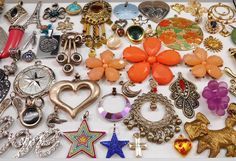 Huge  70 PC Charm Pendant Jewelry Lot Great for Resale~Crafts~Re-Purpose-Etc