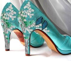 Wedding Shoes Nature And Sparkle Custom Design By Norakaren 325 00 Dresses