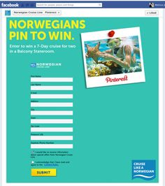 Norwegian Cruise Line experiments with first Pinterest contest | Econsultancy