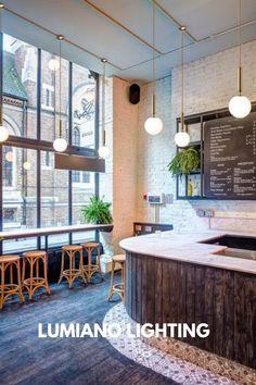 Coffee Shop Interior Design, Bar Interior, Restaurant Interior Design, Cafe Design, Küchen Design, Modern Interior Design, Vintage Restaurant Design, Coffee Cafe Interior, Coastal Interior