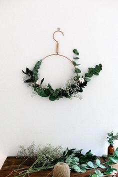 The New Wreaths: 7 Totally Sophisticated & Surprising DIY Holiday Wreaths | Apartment Therapy    Shop http://www.afloral.com/ for your wreath materials! #afloral