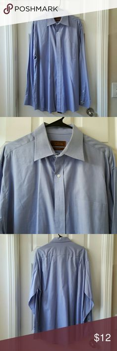 Tasso Elba Striped Button Down Shirt Tasso Elba Striped Button Down Shirt. Front pocket. Excellent condition. Iron free. 100% Cotton. Neck 16 1/2. Length from shoulder to hem is approx 31 inches. Tasso Elba Shirts Casual Button Down Shirts