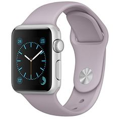 Lavender, lilac, or turquoise. 42 mm. S/M. FanTEK Apple Watch Band Soft Silicone Sport Style Replacement iWatch Strap for Apple Wrist Watch 42mm Models- Small/Medium- Lavender