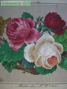 Gallery.ru / Фото #7 - 3 - temka69 Cute Cross Stitch, Cross Stitch Rose, Cross Stitch Flowers, Cross Stitch Charts, Cross Stitch Designs, Cross Stitch Patterns, Cross Stitching, Cross Stitch Embroidery, Hand Embroidery