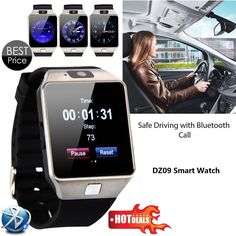 Smart watch dz09 mit kamera bluetooth armbanduhr sim-karte smartwatch für ios android handys support multi sprachen //Price: $US $27.86 & FREE Shipping //     #smartuhren