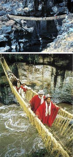 Inca Rope Bridge, Peru