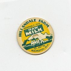 Hillandale Farm, Norman E. Foss Raw Milk, Rochester, N.H. from Cardon Webb's Vintage Milk Bottle Tops collection