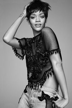 Rihanna for Vogue US, March 2014 Photographed by: David Sims