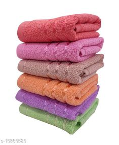 Hand & Face Towels Hand Towels Combo Pack of 6 - Cotton - Size 33x51 CM - Mix Colours - Viscose Border Material: Cotton Print or Pattern Type: Solid Multipack: 6 Sizes:  Free Size (Length Size: 21 in, Width Size: 14 in)  Country of Origin: India Sizes Available: Free Size   Catalog Rating: ★4.1 (1442)  Catalog Name: Ravishing Alluring Hand Towels CatalogID_3062862 C71-SC1113 Code: 772-15355525-525
