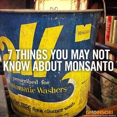 A MUST read post from our friend Robyn O'Brien! #stopmonsanto #food #righttoknow #RobynOBrien #Monsanto #Roundup #glyphosate #laundry #labelGMOs #chemicals #cancer #AgentOrange #PCB #DDT