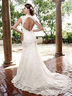 How gorgeous is this back?Casablanca bridal www.idobridalathens.com