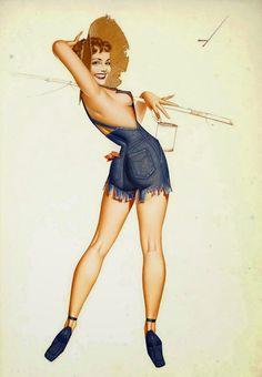 Classic Pin Ups: Girls Gone Fishing: Pin Up and Cartoon Girls