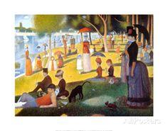 Un dimanche après-midi à l'île de la Grande-Jatte, vers 1886 Reproduction d'art