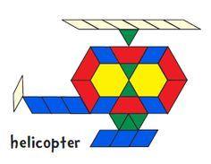 Printable designs for Pattern blocks. Vehicles, Animals, Alphabet ...
