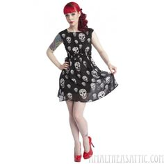 Chiffon Skull Dress