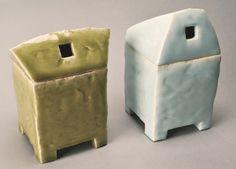 鈴木治 「阿の爐」(右)、「吽の爐」(左)1998年