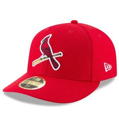 St. Louis Cardinals New Era Diamond Era 59FIFTY Low Profile Fitted Hat - Red a1bbdacee