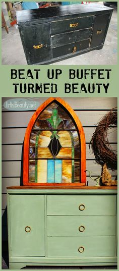 ART IS BEAUTY: Beat up BUFFET turned Mint and Gold BEAUTY