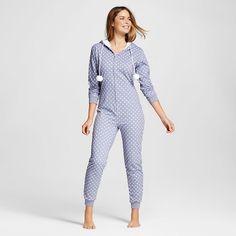 Pajama Drama® Women's Faux Sherpa Hood French Terry Union Suit Pajamas - Hearts : Target