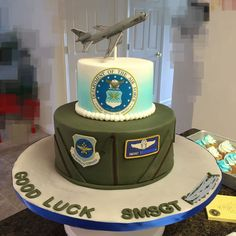 Air Force Retirement Cake on Cake Central