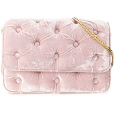 Benedetta Bruzziches Carmen Velvet Clutch With Chain ($870) ❤ liked on Polyvore featuring bags, handbags, clutches, pink, velvet shoulder bag, pink purse, velvet handbags, chain purse and velvet clutches