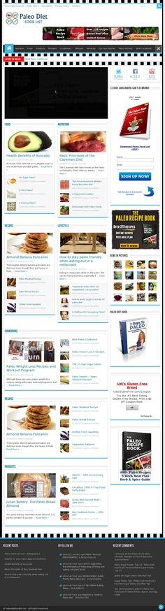 The website http://www.paleodietfoodlist.net