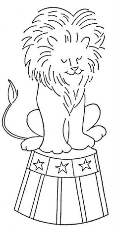 just an idea: create large pictures like this lion that someone can trace onto their kids room wall to create a murial