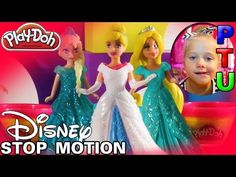 DISNEY Princess PLAY DOH STOP MOTION Youtube Video FUN TOYS for Kids | Magiclip Princesses - YouTube