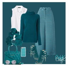 """""""Teal, White, Black"""" by cody-k ❤ liked on Polyvore featuring Fendi, Banana Republic, Forte Forte, Paul Andrew, Vera Bradley, Magaschoni, Cole Haan and Casetify"""