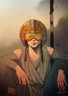 Games, cartoons and art. Star Wars Love, Star Wars Girls, Rey Star Wars, Star Wars Baby, Star Wars Fan Art, Star War 3, Disney Star Wars, Geeks, Cadeau Star Wars
