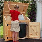 2x4 Garbage Bin Storage Cottage Shed Barn Kit Plans